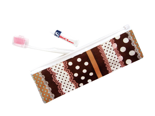 The portable toothbrush set that is cute textile.