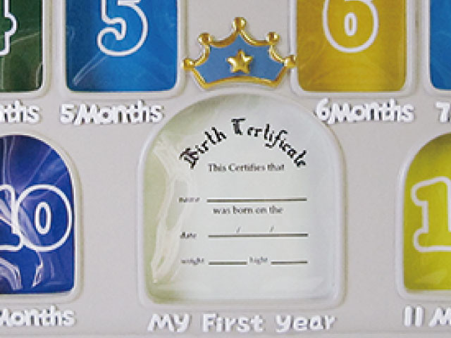 A space in center for birth recording until the 1st birthday.